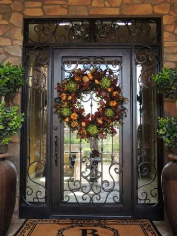 درب فلزی با گل