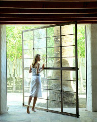 درب فلزی با شیشه