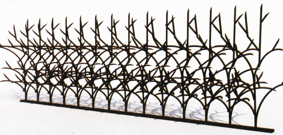 حفاظ روی دیوار سه بعدی صنایع فلزی آهنگر
